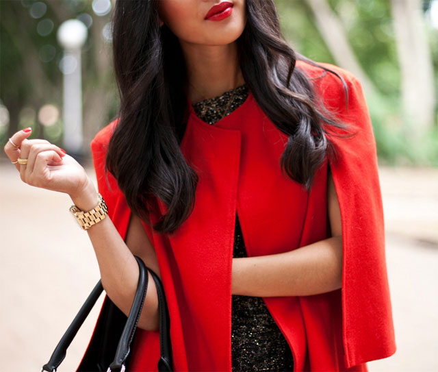 cape-jacket:red
