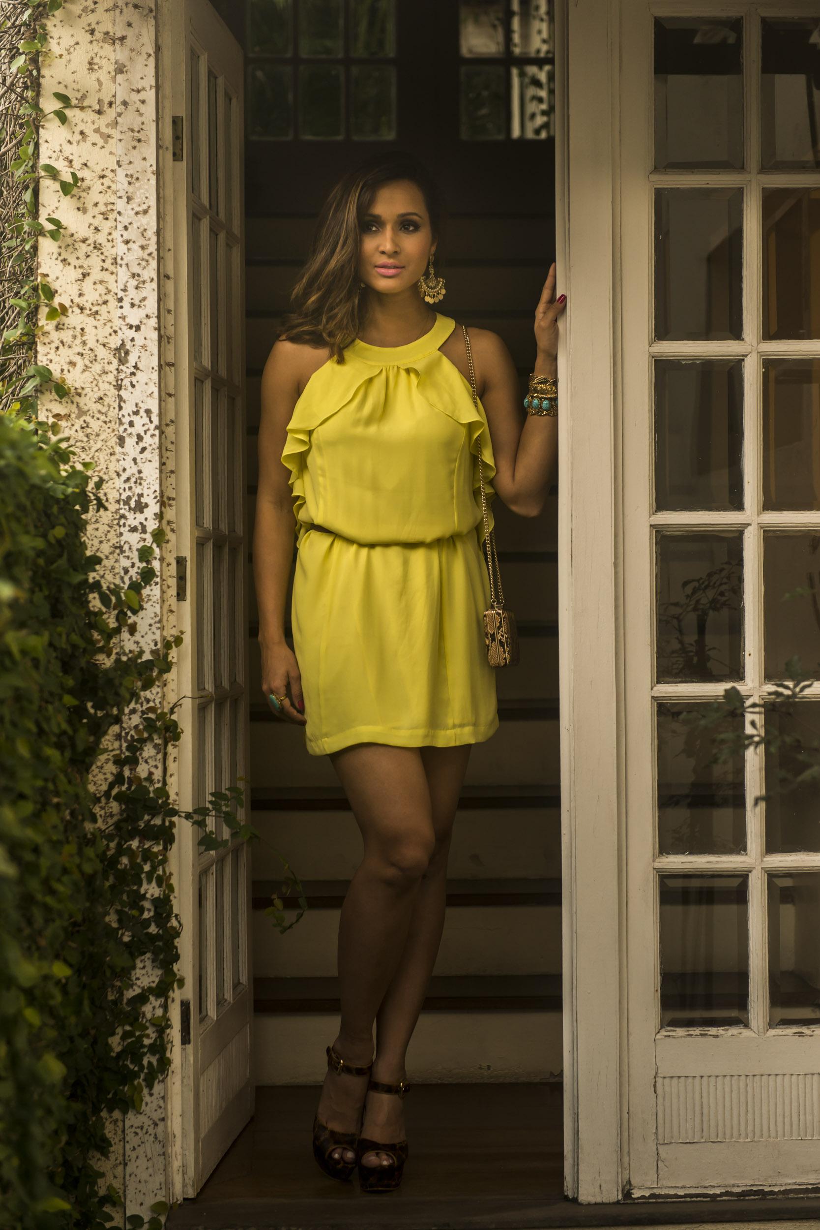 Thaissa carvalho look amarelo
